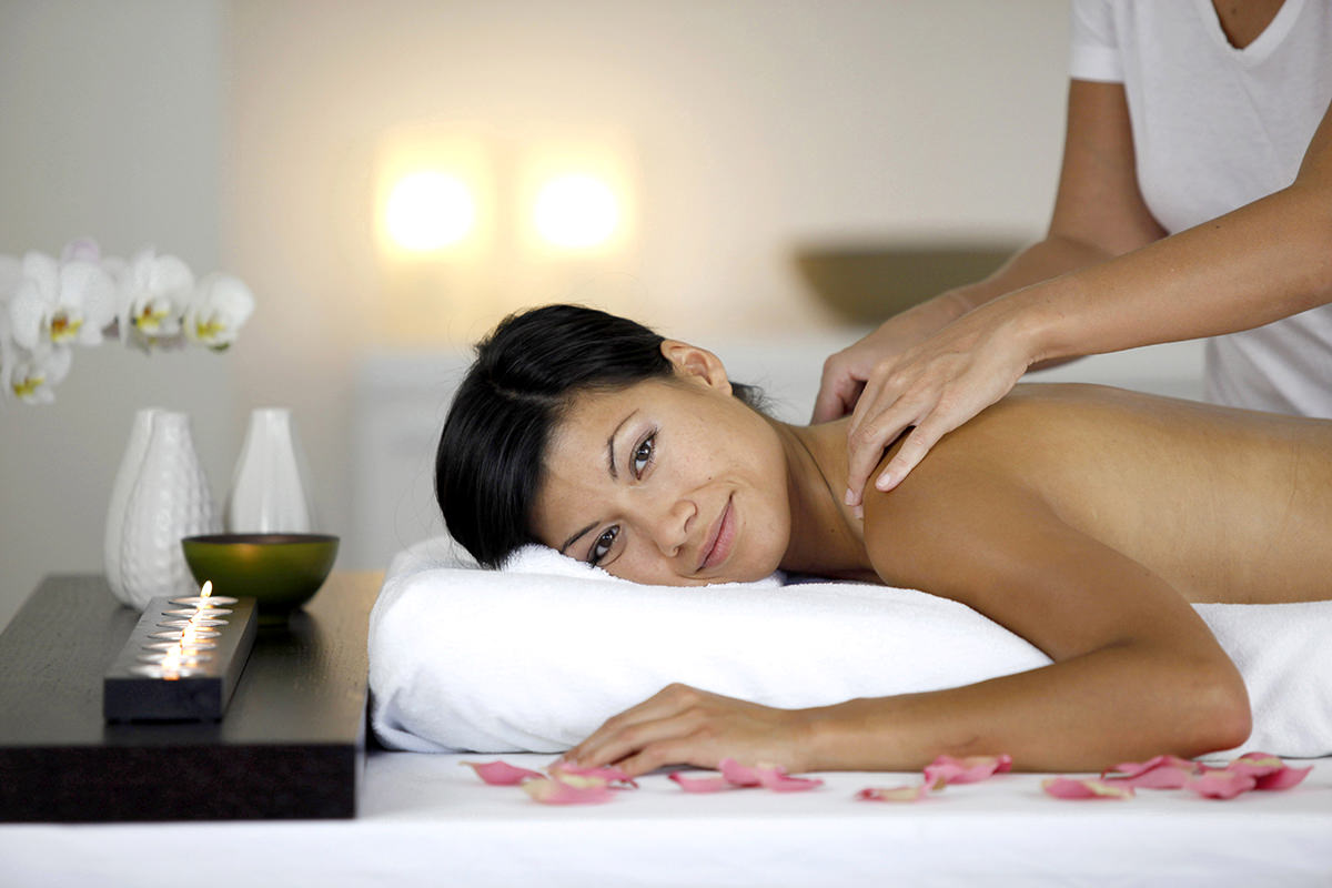 woman enjoying shoulder massage