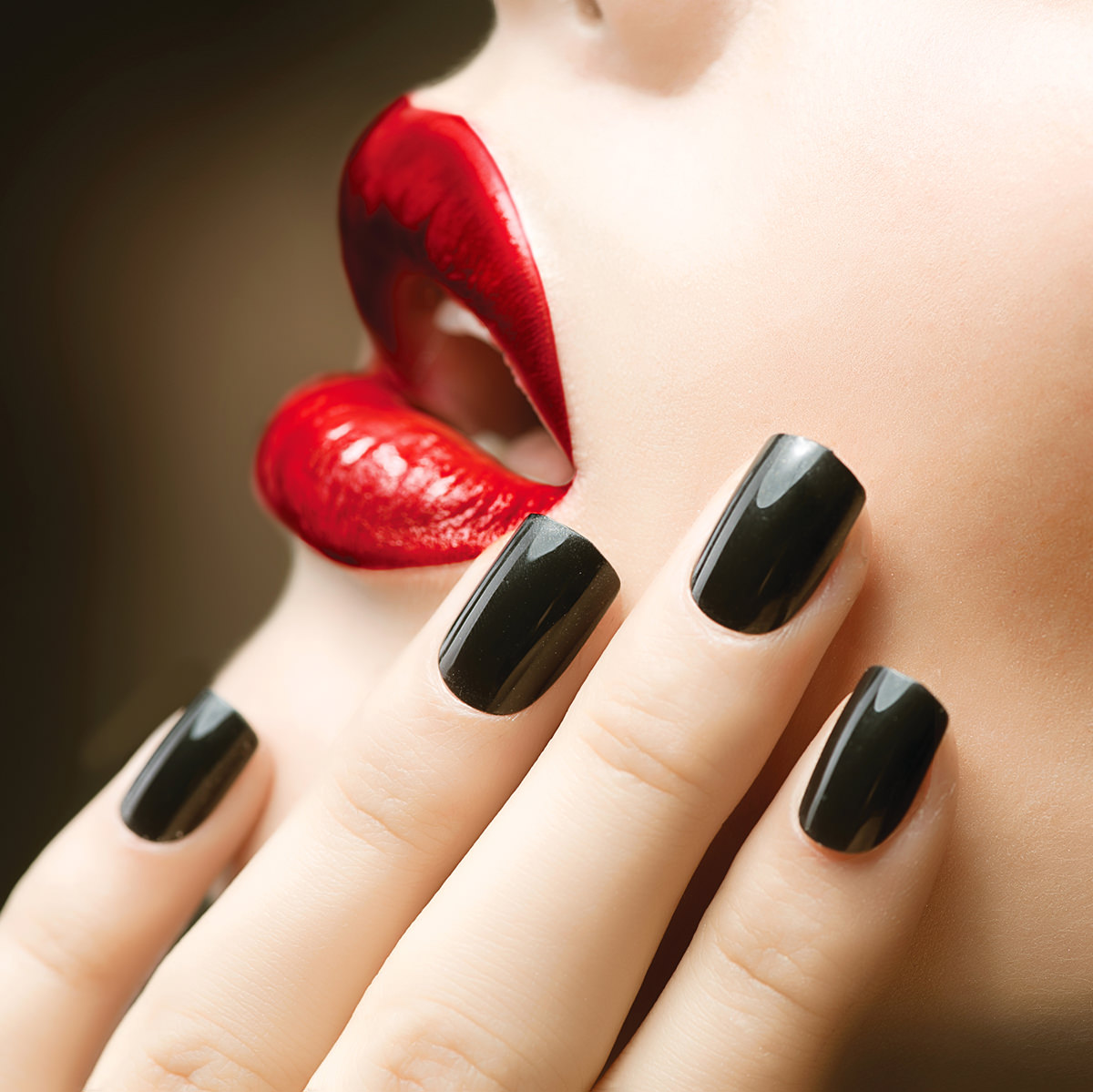 Black Nails Red Lips